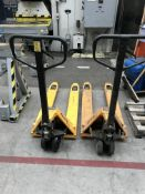 2 x Fetra Hand Operated Pallet Trucks