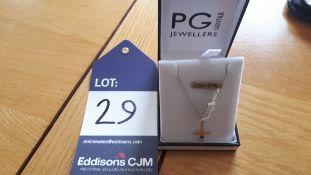 "WG 16"" Chain, w plain cross (20 x 10mm), RRP £195"
