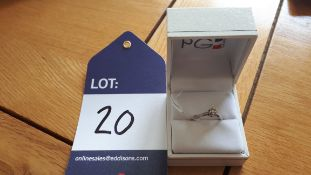 9CT WG Diamond solitaire ring (Second Hand), Size