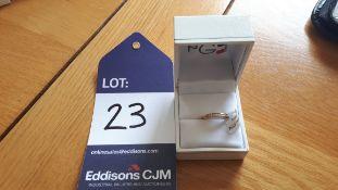 9CT YG 9 Diamond set eternity ring, Size = L, RRP