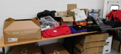 Large Quantity of Unbranded Adults Clothing including Sweatshirts, T-Shirts, Hoodies etc.
