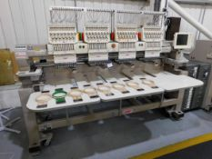 SWF Model SWF/KUH1504-45 Four Head Embroidery Machine s/n C4431209 400mmx450mm (Single Phase)