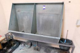 Galvanised Screen Print Washout booth