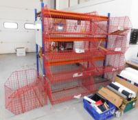 9 Section Plastic Wire Coated Modular Storage System