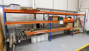4 x Bays of Boltless Racking comprising 6 x Uprights (2000x900) 20 x Cross Beams with Wood