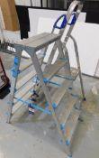 2 x Aluminium Ladders