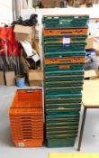 Quantity of Stackable Plastic Crates