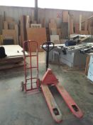2000kg Capacity Long Reach Pallet Truck & a Sack Barrow