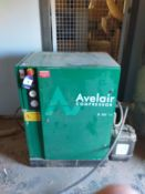 Avelair 8 EN H Compressor in Acoustic Cabinet with a Verticle Receiver & Avelair Dryer