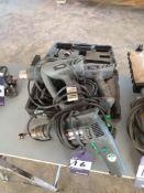 2 x Titan Heat Guns & Skil 520 Pistol Drill 240v