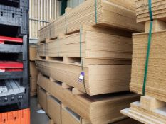 Approx. 91 Mixed Melamine Faced Chipboard Panels