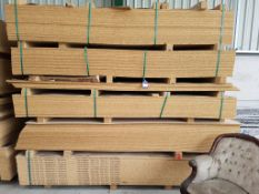 Approx. 90 Mixed Melamine Faced Chipboard Panels