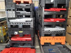50 x Plastic Collapsible Parcel Pallets