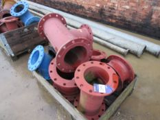Assorted Flanged Fittings to 2 Crates