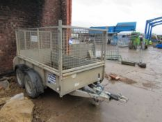 Ifor Williams Twin Axel Cage Trailer with ramp GD8