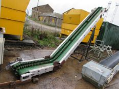 Inclined Belt Conveyor 2.8m lift, 450mm Wide, Mobi