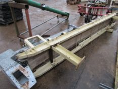 V Shaped Conveyor 350 x 4100mm incomplete, some ro