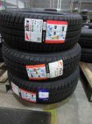 3 Riken tyres including 215/60R16 99H, 195/55R16 91V, 195/70R15C