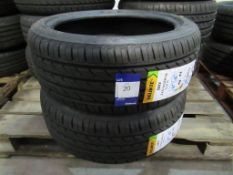 2 unused Delinte DH2 225/45ZR18 95W XL tyres