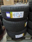 3 unused Delinte DH2 245/40ZR18 97W XL tyres