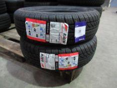 2 unused Riken 185/70R14 88T tyres