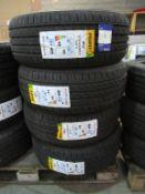 4 unused Delinte DH2 215/55ZR17 98W XL tyres