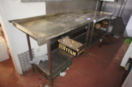 2 x Various stainless-steel preparation tables