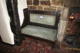 2 x 1m upholstered bench seats