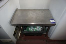 Stainless steel preparation table (small) Half Hei