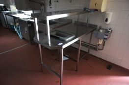 3 x Various stainless-steel preparation tables