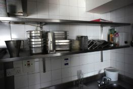 Quantity of various cooking utensils including bow