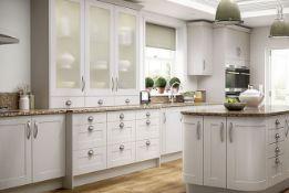Turin cashmere shaker kitchen range, approx. 2651