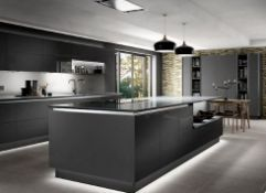 Esker graphite grey gloss acrylic kitchen range, approx.. 5399 items, including doors drawers and