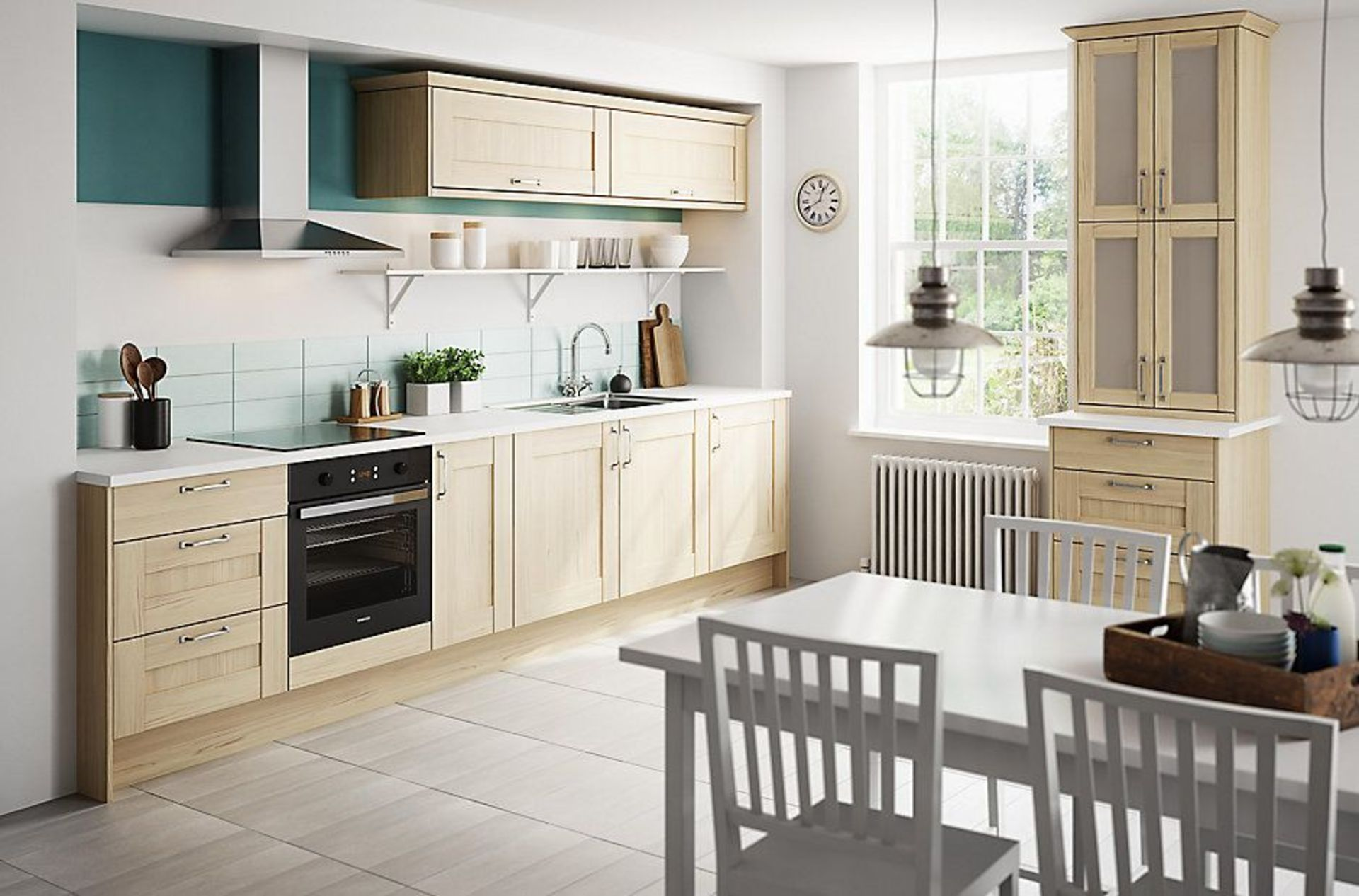 Circa 4,559 items of Kitchen Goods from the following ranges: Gloss White, Westleigh Textured Oak