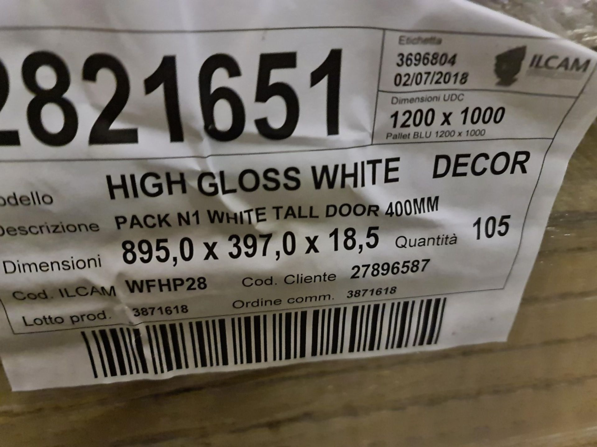 Circa 4,559 items of Kitchen Goods from the following ranges: Gloss White, Westleigh Textured Oak - Image 20 of 21
