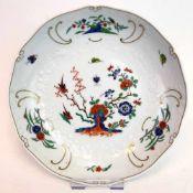 Schale: Meissen Porzellan, Indisch Dekor und Gold. Neumarseille.Porzellan weiß plasiert, aufwendig