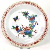 Zierteller / Wandteller: Porzellan. Chinesischer Schmetterling / Chinesische Malerei, Gold
