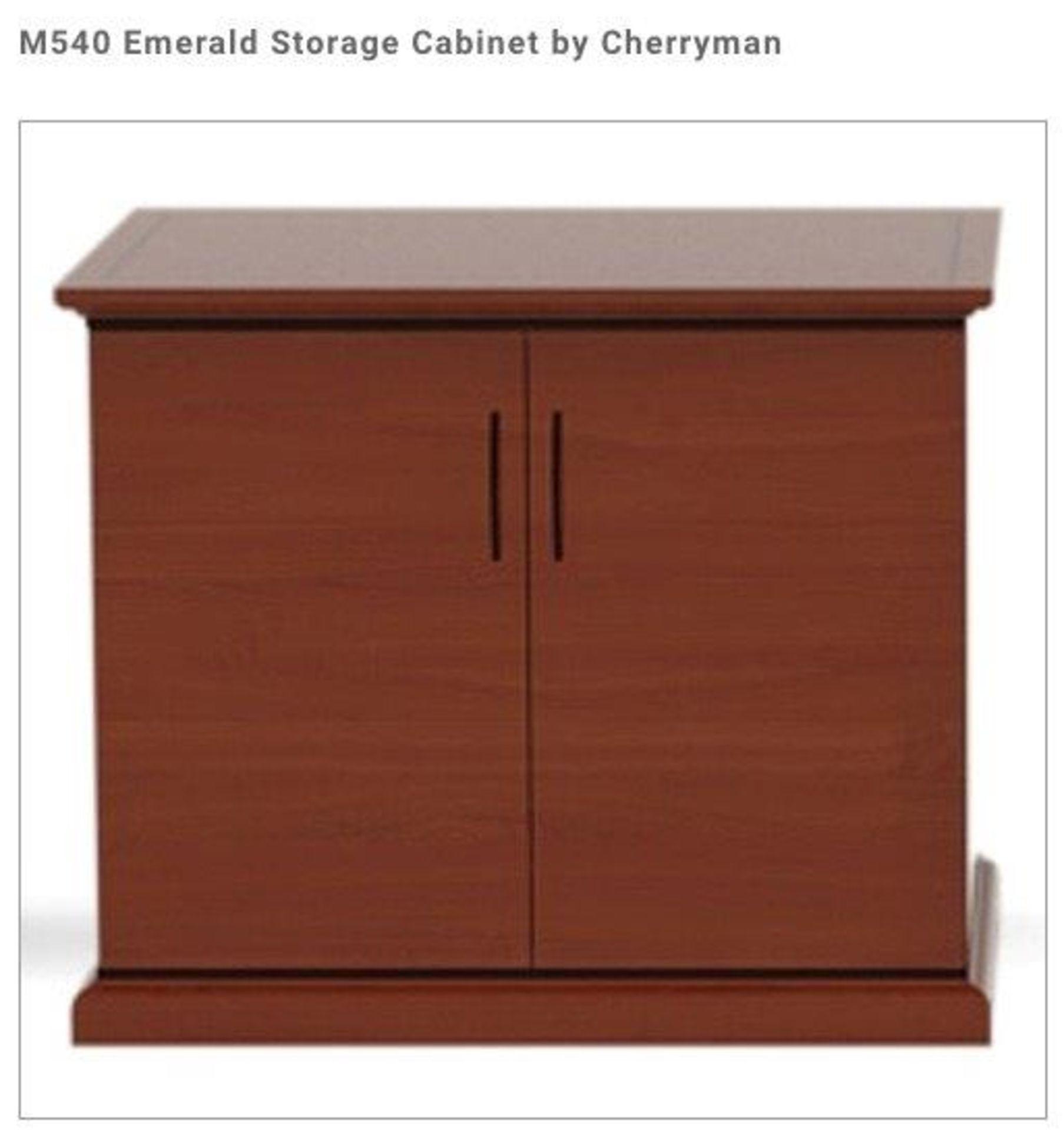(2) Cherryman Emerald Collection Mahogany Storage Lat. Free Standing Assembled. (M540 (List price