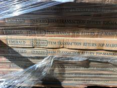 Cherryman Emerald Collection Mahogany Reception Trans Return Top (M125) (Original List price
