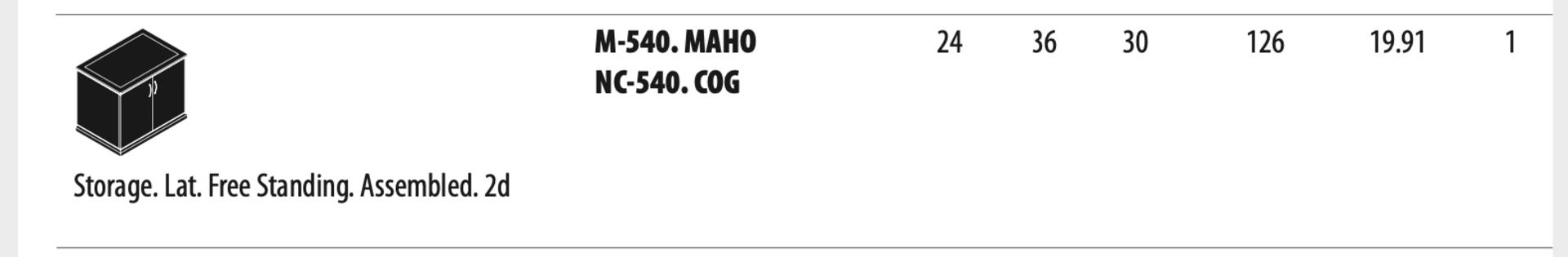 (3) Cherryman Emerald Collection Mahogany Storage Lat. Free Standing Assembled. (M540) (List price - Image 2 of 2