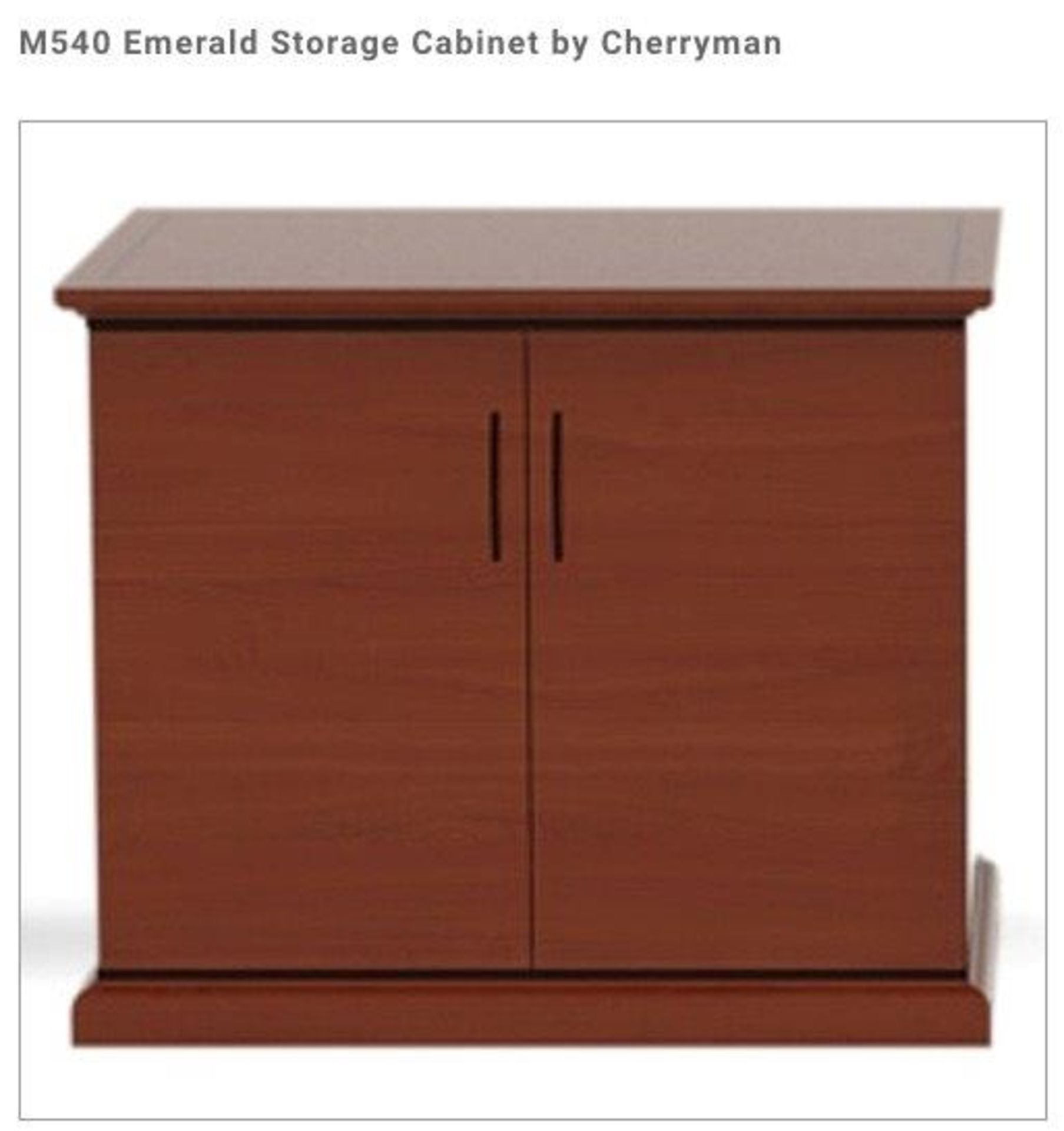 (3) Cherryman Emerald Collection Mahogany Storage Lat. Free Standing Assembled. (M540) (List price