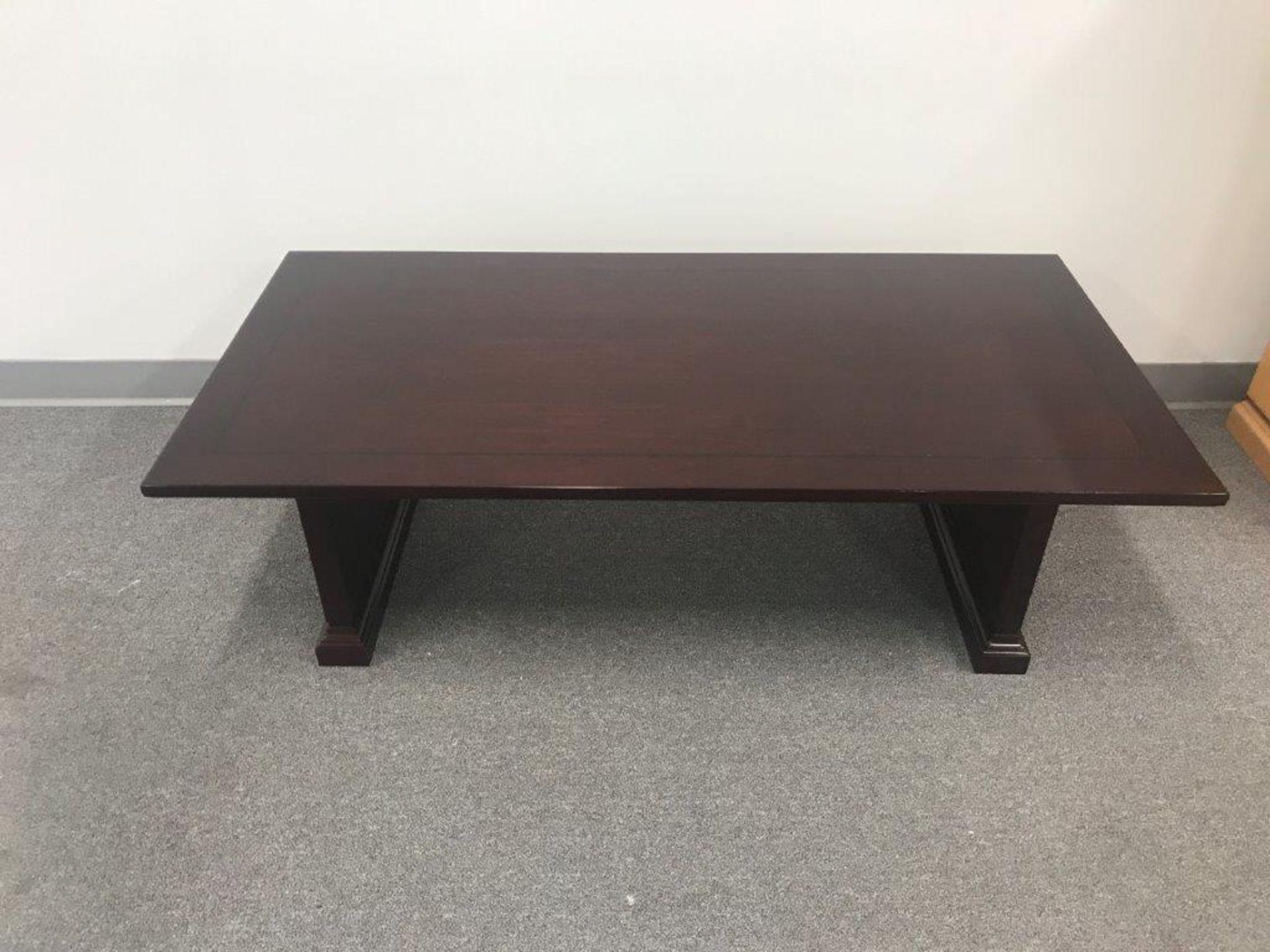 (5) Cherryman Emerald Collection Mahogany Coffee Tables (EM-132) (List price each: $550)