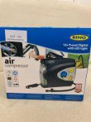 RING AIR COMPRESSOR 12V RESET WITH DIGITAL LIGHT