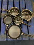 SELECTION OF NON-STICK PANS AND COOKING POTS