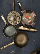 NON-STICK PAN COLLECTION INCLUDING EGG POCHER, NEW ZYLISS COOK PAN