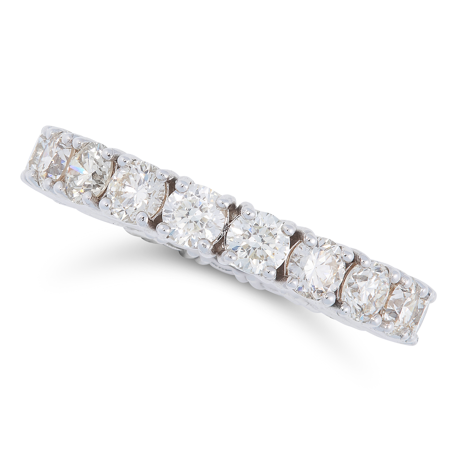 Lot 111 - A 3.18 CARAT DIAMOND ETERNITY RING designed as a full eternity ring set with 3.18 carats of round