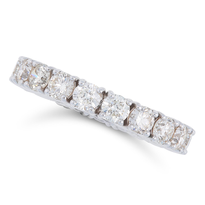 Lot 26 - A 2.84 CARAT DIAMOND FULL ETERNITY RING set with a single row of round modern brilliant cut diamonds