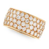 A VINTAGE DIAMOND ETERNITY RING, VAN CLEEF & ARPELS in 18ct yellow gold, the full band set with four