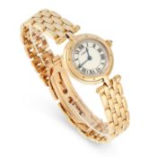 A LADIES PANTHERE RONDE WRISTWATCH in 18ct yellow gold, comprising of a round case set on the