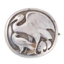 A SILVER BROOCH, GEORG JENSEN 1933-1944 in silver, designed by Kristian Mohl-Hansen, design 167,